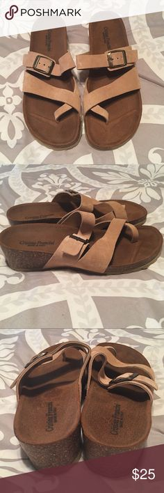 Cute Sandals These are like new as you can tell there are no footprints on the soles. Purchased right after my knee surgery and my feet were swollen so they are actually too big on me! Size 7.5. All items will be in a large neighborhood garage sale October 7th! Shoes Sandals