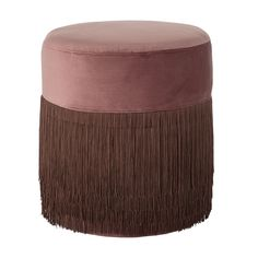 Rose Grandma pouf in velvet and fringes <3 Design by Bloomingville