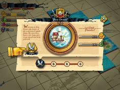 Plunder Pirates by Midoki - Port Info - Game UI HUD Interface Art iOS Apps