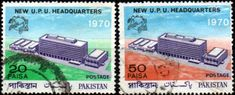 Pakistan 1969 Universal Postal Union Building Set Fine Used  SG  289/90  Scott 284/5