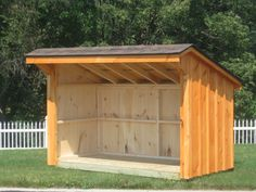 4 x 8 Firewood Shed