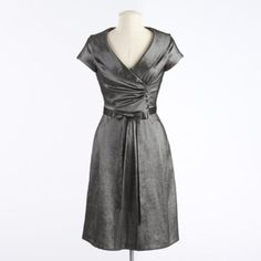 mother of the bride dress. Quite fond of this one, and the color would even work, if I'm doing bridesmaids in black.