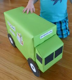Delivery Truck Craft. How about wrapping a gift up to make it look like a truck?!