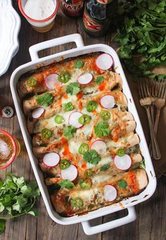 MADE  Flavor packed and super satisfying, these vegetarian enchiladas are a major crowd pleaser!