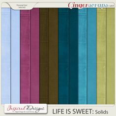 LIFE IS SWEET: Paper Pack 2 (Solids)