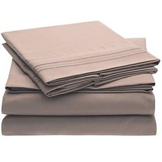 Harmony Linens Bed Sheet Set - 1800 Double Brushed Microfiber Bedding - 4 Piece (Queen, Tan) -- Check this awesome product by going to the link at the image.