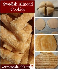 Swedish Almond Cookies: easy and amazing bar cookie! with The Cookie Elf Easy Cookie Recipes, Cookie Desserts, Gourmet Recipes, Cooking Recipes, Healthy Recipes, Shortbread Recipes, Shortbread Cookies, Finger Cookies, Bar Cookies