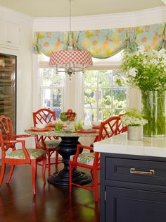 Red lacquer chairs - Jeffers Design Group