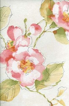 Love the style of these pretty watercolor flowers. Especially the subtle…