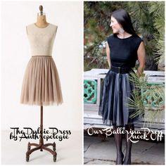 DIY Clothes D IY Refashion DIY the ballerina dress (an anthropologie dulcie dress knock off)