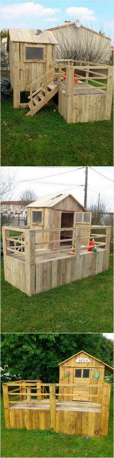 Outdoor Pallet Playhouse