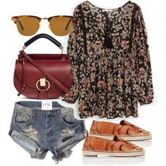A fashion look from October 2015 featuring MANGO blouses, Abercrombie & Fitch shorts and Chloé sandals. Browse and shop related looks.