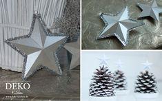 DIY: 3D-Sterne aus Papier als hübsche Anhänger selber machen. Schritt für Schritt Anleitung auf: http://www.deko-kitchen.de/diy-huebsche-3d-sterne-aus-papier-als-anhaenger/