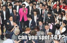 *squints* COULD TOP BE POSSIBLY WEARING THAT SMEXY HOT PINK COAT??? <3 #BIGBANG #TOP #kpop