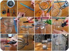 How to make a mason jar into a lantern