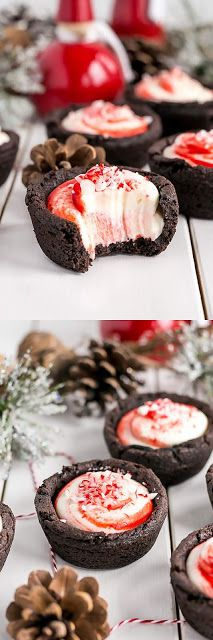 Chocolate Peppermint Cookie Cups - My Spoon Your Taste