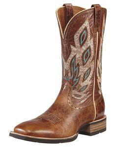 Ariat Nighthawk Square Toe Western Boot - Men's Beasty Brown