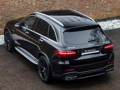 Romans are pleased to offer this Mercedes-Benz Glc-Class Amg Glc 63 S Premium for sale presented in Obsidian Black with Black Nappa Leather. Mercedes S Class Amg, Mercedes Benz Suv, Mercedes Black, Classic Mercedes, Mercedez Benz, Top Luxury Cars, Dream Cars, Super Cars, Auto Racing