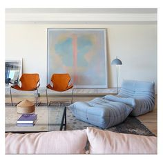 """""""A Serene Woolloomooloo Bay apartment featuring """"lime-washed timber floor boards paired with soft pistachio and grey hues"""" by SJB via @MidcenturyJo…"""""""