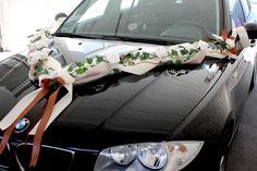 Autoschmuck Schoko Braun Creme Autodeko Hochzeit Autogirlande Braut Autodekoration - Kaufen bei ZauberDeko.de