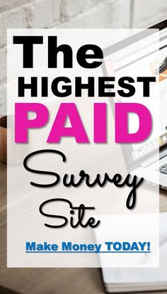 Check put the highest paid survey site that our readers love! Check put the highest paid survey site Online Survey Sites, Online Surveys For Money, Survey Sites That Pay, Earn Money Online, Online Jobs, Survey Websites, Online Coupons, Online Earning, Online Games