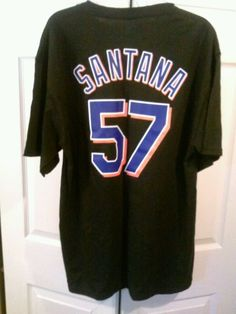 Authentic Collectible MLB Santana #57 New York Mets T-Shirt Adult L  *NWT * #Majestic #NewYorkMets