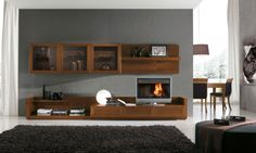 Image result for modern modular wall unit wood