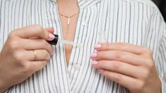21 Genius Hacks for Fixing Ruined Clothes Paint clear nail polish over a loose button thread to temporarily stop it from unraveling. No need to learn how to sew on a button just yet. Clear Nail Polish, Clear Nails, Fashion Articles, Fashion Advice, Fashion Hacks, Red Wine Stains, Stain On Clothes, Diy Schmuck, Clothing Hacks