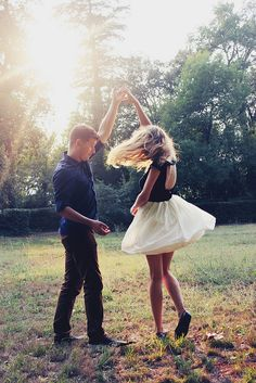 Engagement photos: Dance! Love this!!! Could say: we're twirling into marriage on ....