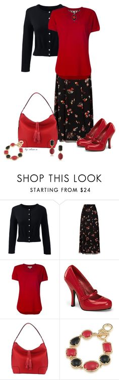 """""""Monday's Outfit"""" by alina-n ❤ liked on Polyvore featuring Lands' End, RED Valentino, MICHAEL Michael Kors, MKF Collection, 1st & Gorgeous by Carolee and fashionset"""