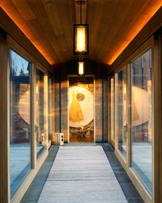 rooms connected by glass hallways | ... walkways provide a path between rooms and clear views of the landscape