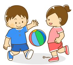 Let's play ball. Let's play ball. Kids Education, Special Education, Cartoon Kids, Drawing For Kids, Clipart, Diy For Kids, Kids Playing, Cute Pictures, Kindergarten