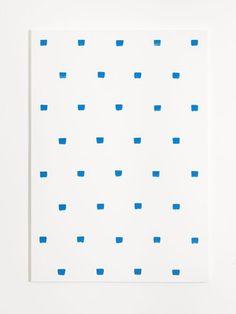 Niele Toroni - Empreintes de pinceau n°50 à intervalles de 30 cm,2015