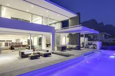 This Fresh Modern Three Floored Villa Features Contemporary Styling Combined with Spacious Living and Breathtaking Sea Views. Villa Plan, Contemporary Style, Modern, Luxury Accommodation, Open Plan Kitchen, Luxury Villa, Cape Town, Luxury Travel, Lodges