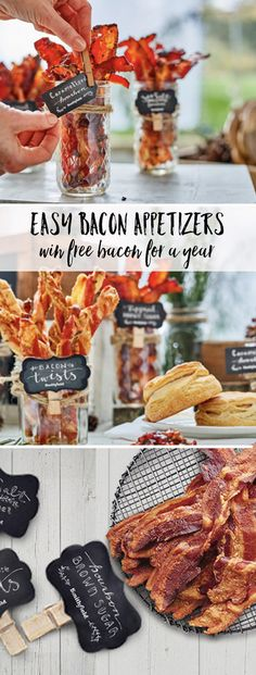Easy bacon appetizers :: Recipes and ideas for setting up a Bacon Bar and your chance to win FREE bacon for a YEAR! SmithfieldBaconBar AD