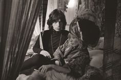 An intimate shot shows Mick Jagger posing on a bed with Anita Pallenberg in The Italian-born actress, model, and fashion designer was the girlfriend of guitarist Brian Jones and later Keith Richards from 1967 to by whom she has two children Anita Pallenberg, Intimate Photos, Cinema, Band Of Brothers, Galleries In London, The Girlfriends, Joshua Tree National Park, Keith Richards, Mick Jagger