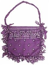 No-sew bandana purse... cute craft for girls - Click image to find more DIY & Crafts Pinterest pins