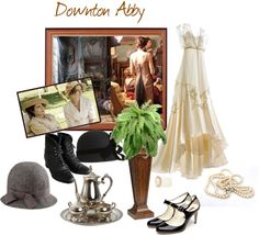 """""""..Downton Abby.."""" by white-rosepetal ❤ liked on Polyvore  Fashion."""