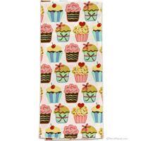 #Retro Cupcake Print Kitchen Towel  http://www.retroplanet.com/PROD/36446