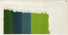 Josef Albers Color Study for Homage to the Square: Green Passage, 1958. Oil on blotting paper, 6 x 12 in. (15.2 x 30.5 cm).