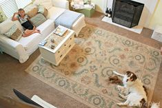 Use An Area Rug On Carpet To Make A Room Cozier Living