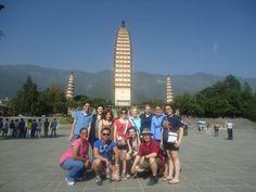 Dominican students in Da Li, China. Taken at Three Pagoda Park.