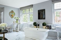 Natalie Massenet's London Bathroom Designed by Michael S Smith | Photography by Oberto Gilli for Architectural Digest}