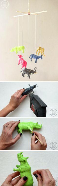 mommo design: PLASTIC ANIMALS DIYs