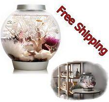 Baby Fish Bowl Aquarium Tank Glass With Light Fixture Kit Light 4 Gallon Silver
