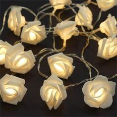9FT 16 LED Rose LED Fairy Xmas Christmas Wedding Party String Lights - Clear - BUY ONE GET ONE FREE