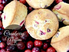 Cranberry Muffin Recipe (these contain orange juice which really give the muffins some tang)