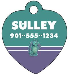 Disney Monsters Inc Sulley Pet Id Tag for Dogs