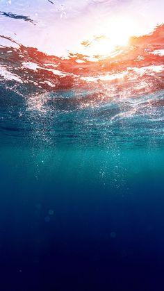 ↑↑TAP AND GET THE FREE APP! Art Creative Sky Sea Water Blue Summer Sun Blue HD iPhone 6 Plus Wallpaper