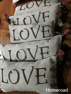 LOVE pillow to DIY for Valentine's Day www.homeroad.net